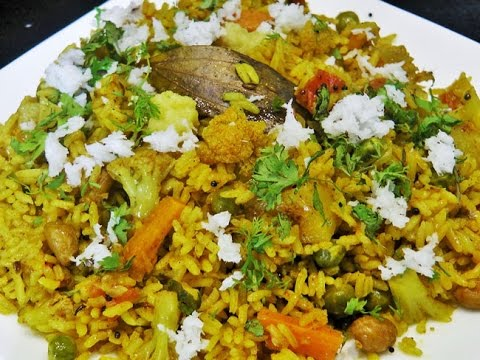मसाले भात   Masale Bhat   Masala Rice by madhurasRecipe