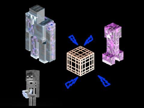 How to get Minecraft Iron Golem/mob spawner 1.11 (Working!) creative mode