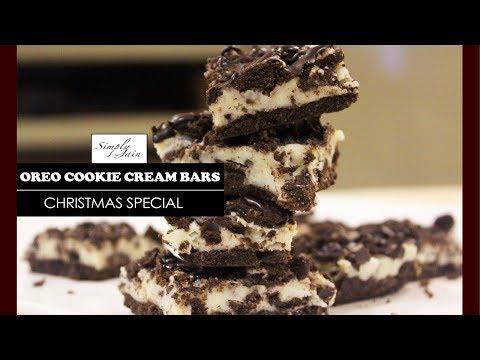 Oreo Cookie and Cream Bars | How To Make No Bake Christmas Dessert | Christmas Special | Simply Jain