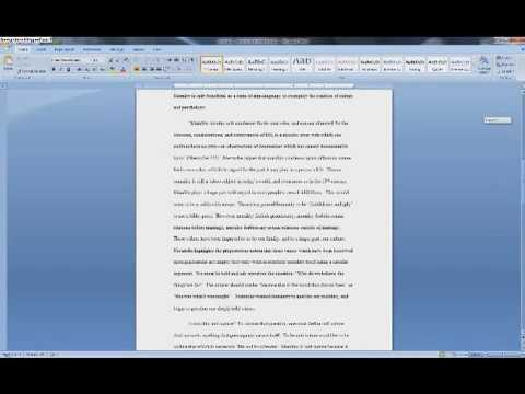 Creating MLA Works Cited Page in Word 2007