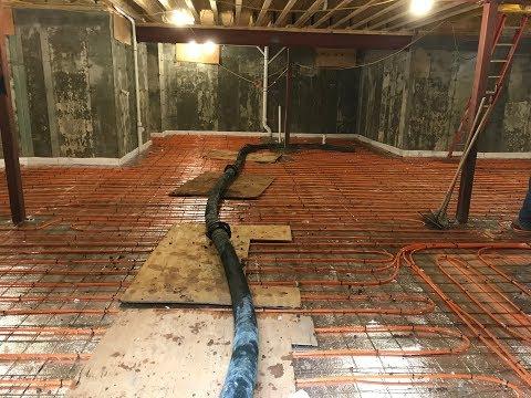 Radiant Heat in a Concrete Floor