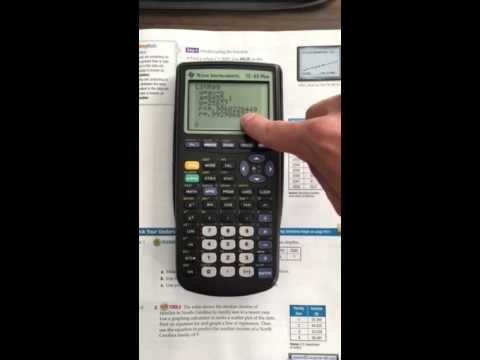 Using TI-83 Plus to find linear regression equation and predict values