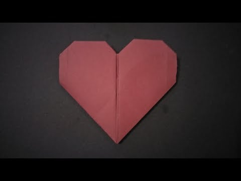 Origami Heart making step by step