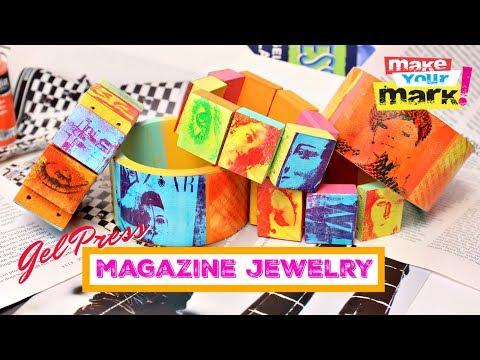 Gel Press Pop Art Magazine Jewelry