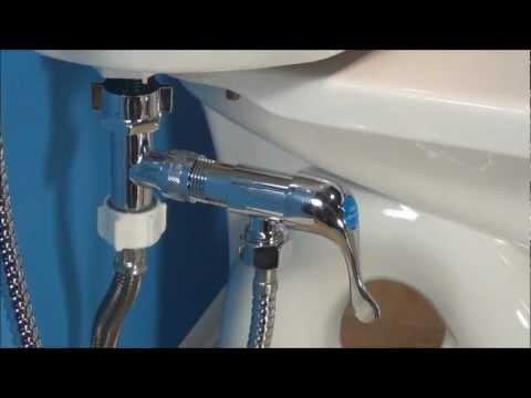 Mini-Shower Bidet / Diaper Sprayer Installation - How to Install Mini-Shower for Commode