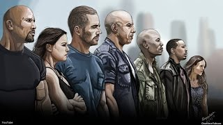 Fast & Furious 7 - Digital Painting - p.s R.I.P Paul Walker - Tribute Speed Drawing - Photoshop