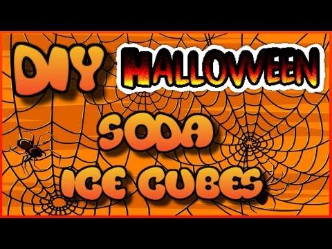 DIY Halloween Soda Ice Cubes