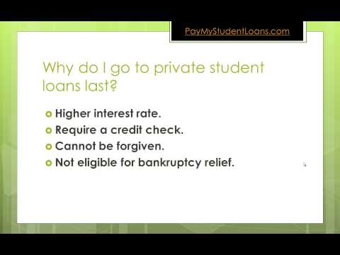 Private Student Loans as a Last Resort