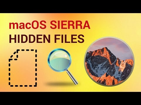 How to View Hidden Files on mac OS Sierra