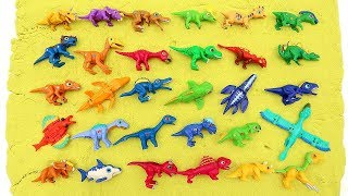 Download 30 Mini Dino Dinosaurs Toys For Kids! Dino Mecard Color Dinosaur Eggs Is Hatching Funny And Cute Video