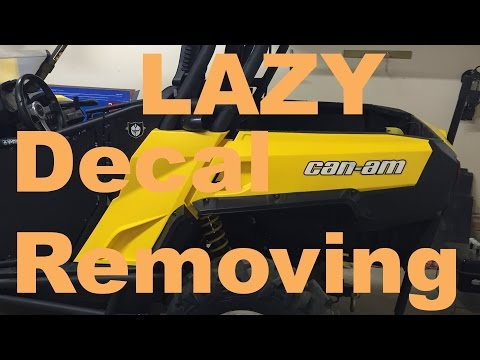 The LAZY way to remove ATV decal residue/glue