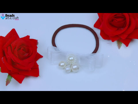 3 DIY Quick and super cute Hair accessories (Easy) | Beads art