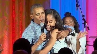 President Obama Serenades Daughter Malia for Her 18th Birthday During Last Fourth of July Party at t