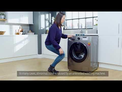 Samsung Washing Machine | How To: Reduce Noise Levels