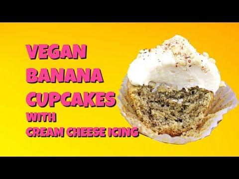 Vegan Banana Cupcakes with Cream Cheese Icing || Gretchen's Vegan Bakery