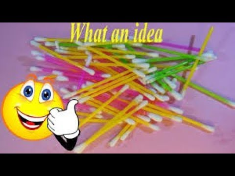 Best Crafts From Cotton Buds/creative art/Paper Crafts/Decor Crafts/Best Out of Waste/DIY Crafts