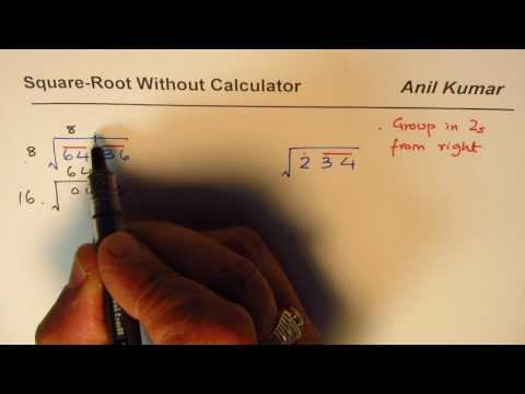 Special Division to Find Square Root of Numbers without Calculator