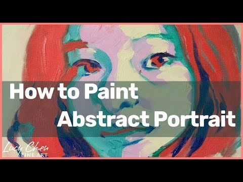 How to Paint an Abstarct Portrait with non-skin colors