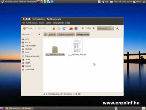 PDF készítése Ubuntu alatt
