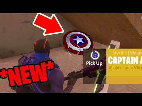 How to get CAPTAIN AMERICA'S SHIELD in Fortnite: Battle Royale *NEW* Easter egg in FORTNITE!