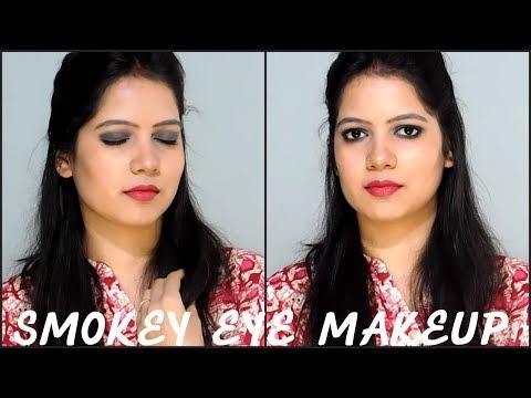Black Smokey Eye Tutorial For Beginners/Smokey eyes step by step Tutorial ||TipsToTop By Shalini