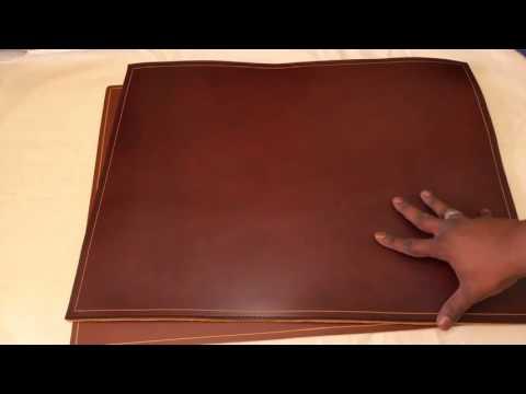 Custom Leather Deskpad, full grain desk pad