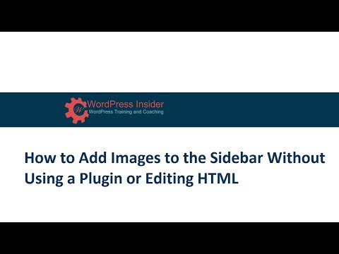 How to Add Images to Your WordPress Website Sidebar without Using a Plugin or Editing HTML