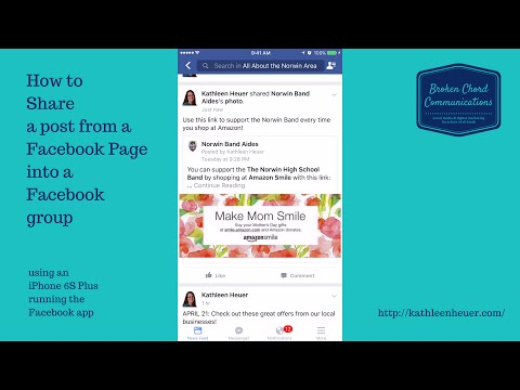 Share a post from a Facebook Page to a Group using mobile