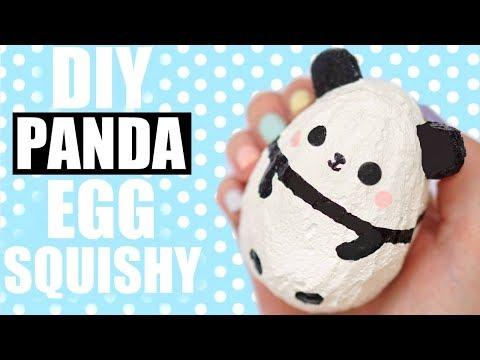 DIY PANDA EGG SQUISHY   EASTER 2018