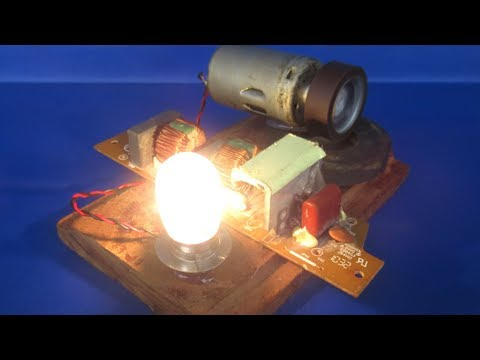 Free energy generator magnets electric with DC motor - Science projects experiments at home