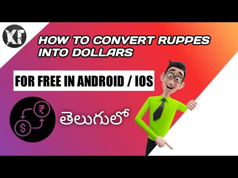 How to convert us dollor  Into Indian currency in telugu
