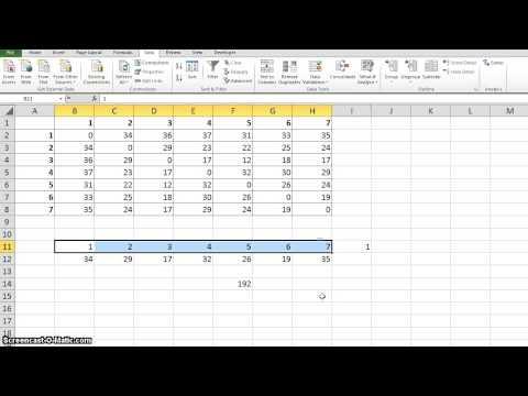 Solving Travelling Salesman Problem(TSP) using Excel Solver
