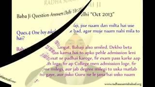 Question Answers | Radha Soami Satsang Beas | Baba Ji