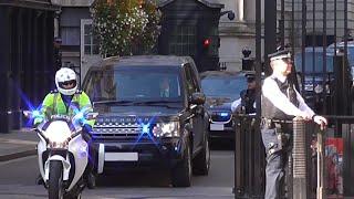 High Security Escort - Israel Prime Minister Benjamin Netanyahu in London