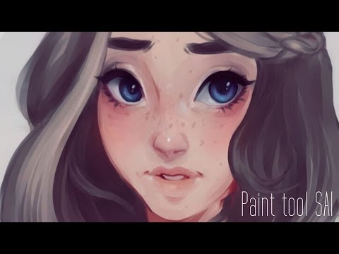 Digital Painting in Paint Tool SAI - COTTON