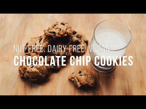 DAIRY FREE + NUT FREE + VEGAN CHOCOLATE CHIP COOKIES