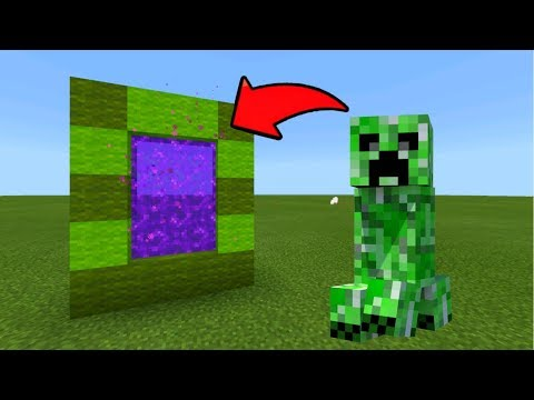 Minecraft Pe How To Make A Portal To The Creeper Dimension - Mcpe Portal To The Creeper!!!