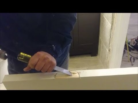 How to cut and install perfect door hinges - Step By Step - Real Installation