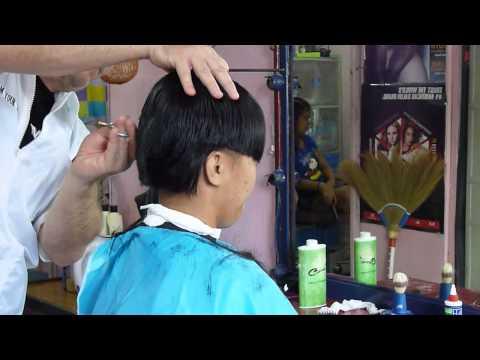 Girl short barbershop haircut