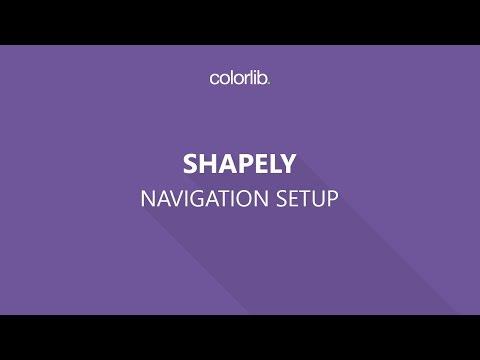 Navigation Menu Setup For Shapely WordPress Theme