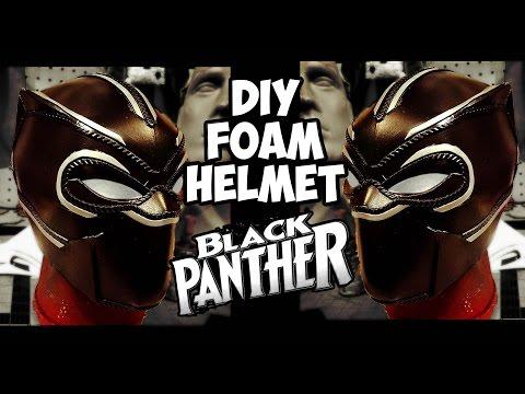 Black Panther pt.1 foam helmet build how to diy