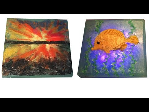 Making Aquatic Translucent Soap Art with Translucent Soap Clay and M&P Soap