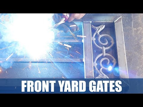 Metal Front Yard Gate With Security Screen  | JIMBOS GARAGE