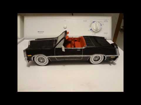 Making a cardboard paper mache car from scratch.