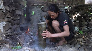 How to make a Food Steamer with Bamboo Tube, Wilderness Alone, Episode 163