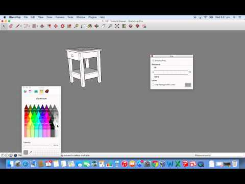 How to Remove Axes & Background Colour in SketchUp