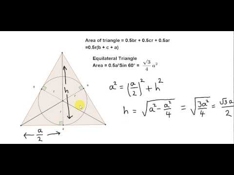 Radius of the incircle of an Equilateral Triangle
