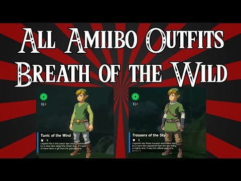 Showcasing Every Amiibo Outfit Set in Zelda: Breath of the Wild