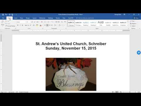 Creating a Booklet in Word