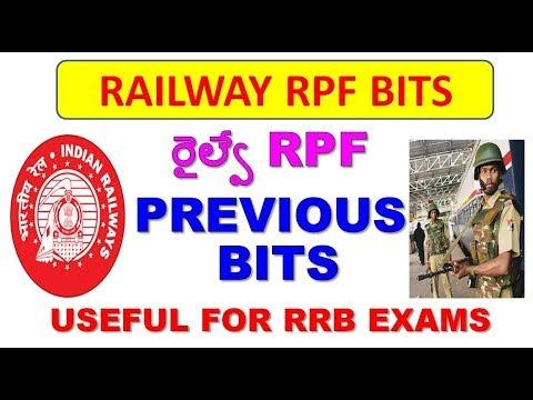 RPF SI/CONSTABLE PREVIOUS BITS IN TELUGU ||RRB/RPF EXAM BITS||RRB/RPF GROUP-D/ALP EXAMS IMP BITS